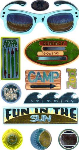 Ek Success Sticko 3-D Autocollants-Vacances Camping fun in the Sun Summer Vacation