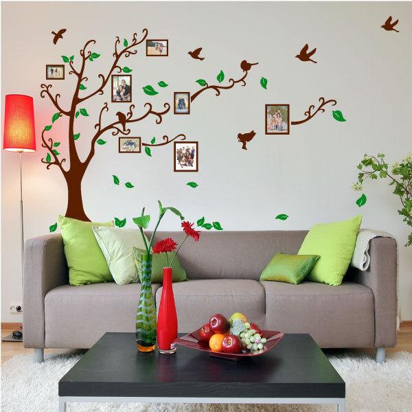 Family Tree Bird Photo Frame Vinyl Nursery Wall Quotes, Wall Stickers, Wall Art