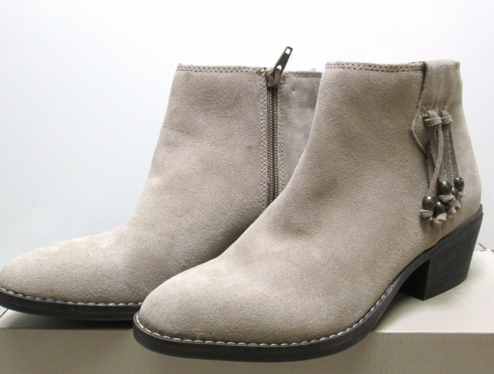 White Mountain Havana Tassel Suede Booties stone Taupe choose size 6.5 NEW