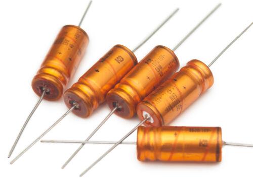 20 pcs Roederstein EBM 1000uF 16V axial electrolytic capacitors Golden Bullets