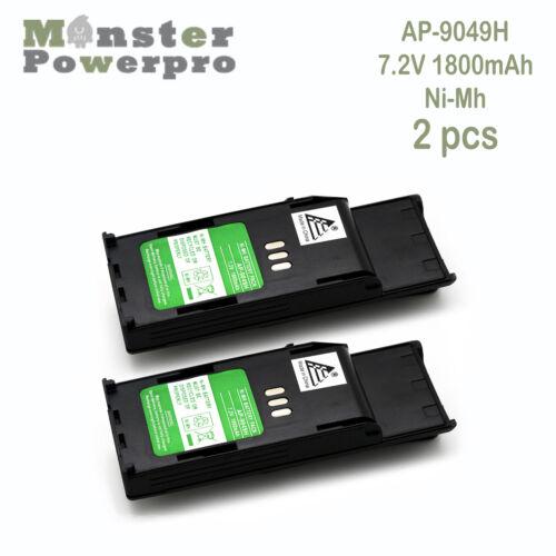 2x HNN9049 HNN9049A 7.2V Ni-Mh 1.8Ah1800mAh Battery MOTOROLA RadiusP1225P1225-LS