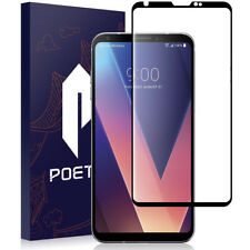 Poetic Full Coverage Anti-scratch Tempered Glass Screen Protector for LG V30 Bk
