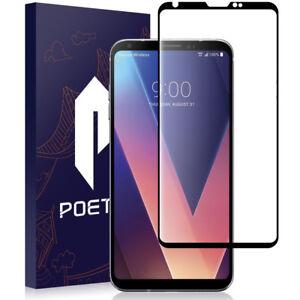Poetic-For-LG-V30-2017-Tempered-Glass-Full-Coverage-Screen-Protector-Black