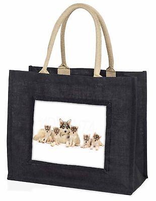 utonagan Welpe Hunde große schwarze Einkaufstasche Weihnachten Geschenkidee,
