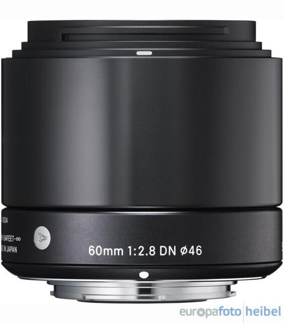 Sigma 60mm f 2.8 DN Objektiv MFT schwarz Micro Four Thirds MFT Objektivbajonett