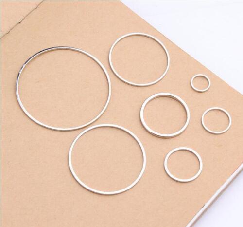 10X 8-38MM Beading Hoop Loop Earring Ear Wire Jewelry Making Findings DIY