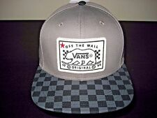 Vans Shoes Mens Bear Patch Checker Snapback Hat Cap Grey Adjustable Free Ship