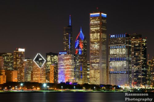 Chicago Cubs Win World Series Champs Skyline Photos Photo 8x10