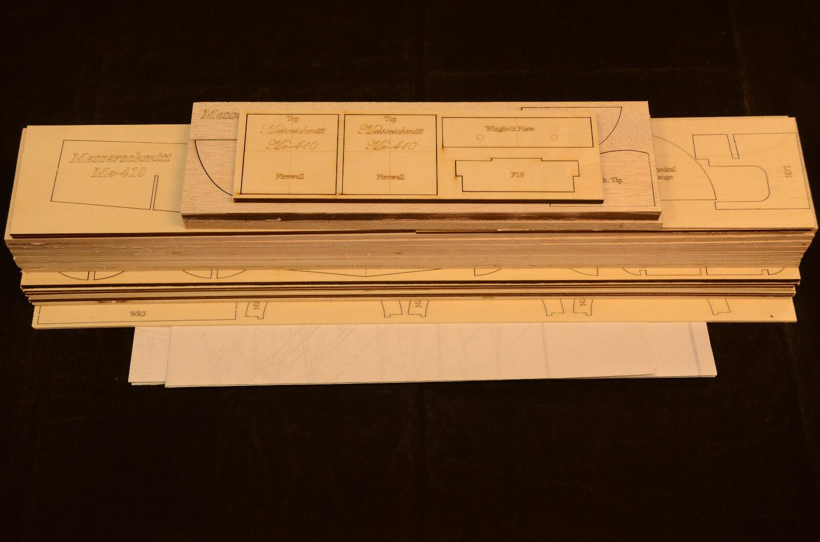 Grande 1 8 Escala Kit Kit Kit De Corte Láser ME-410 Messerschmitt corto, planos y Inst. 81 WS  ventas de salida