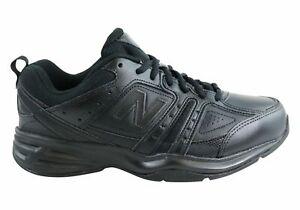 Mens-New-Balance-Mx409Bk2-Leather-Black-Cross-Training-Shoes-D-Width-ModeSho