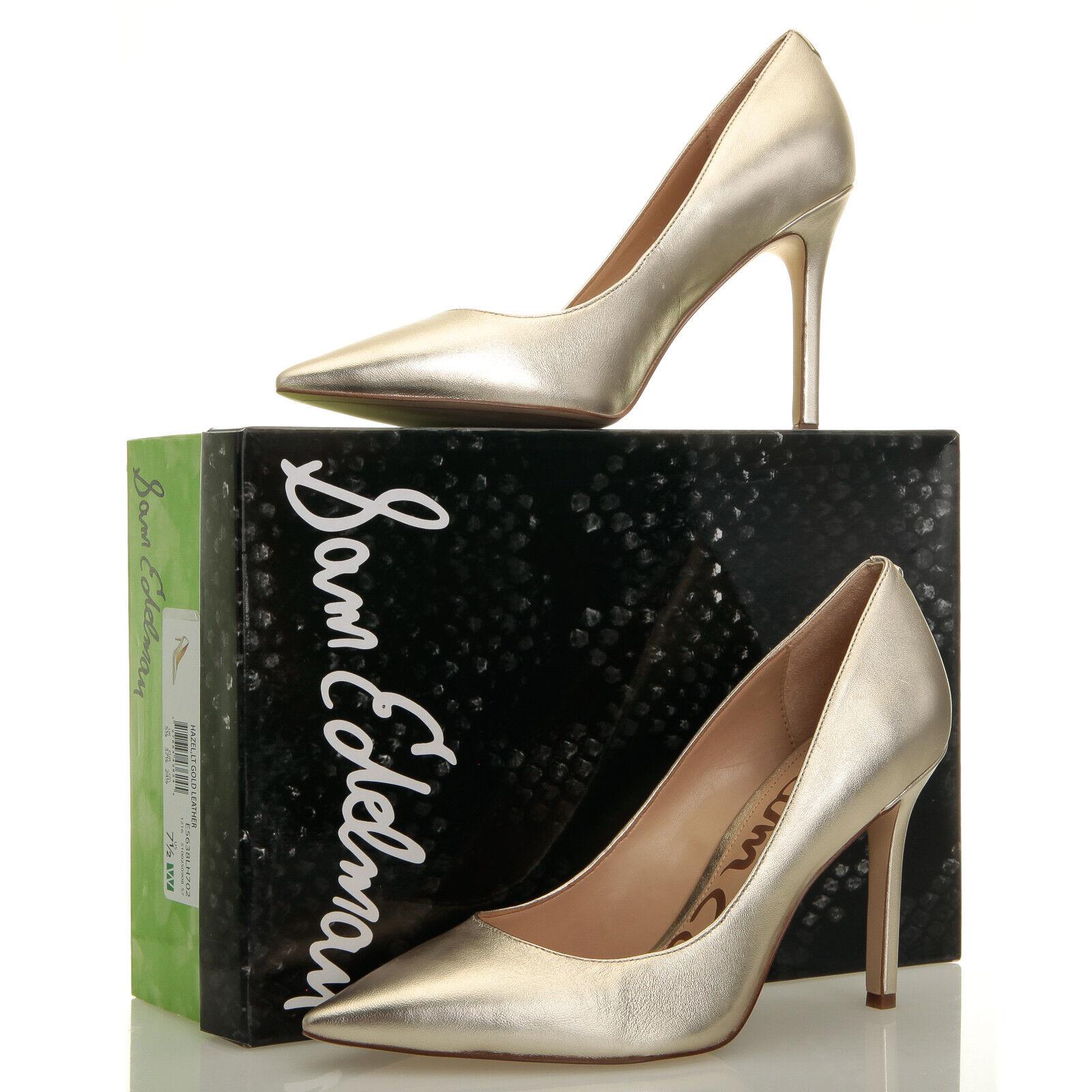 Sam Edelman Hazel Gold Pointed Toe High Heels - Größe 7.5 W