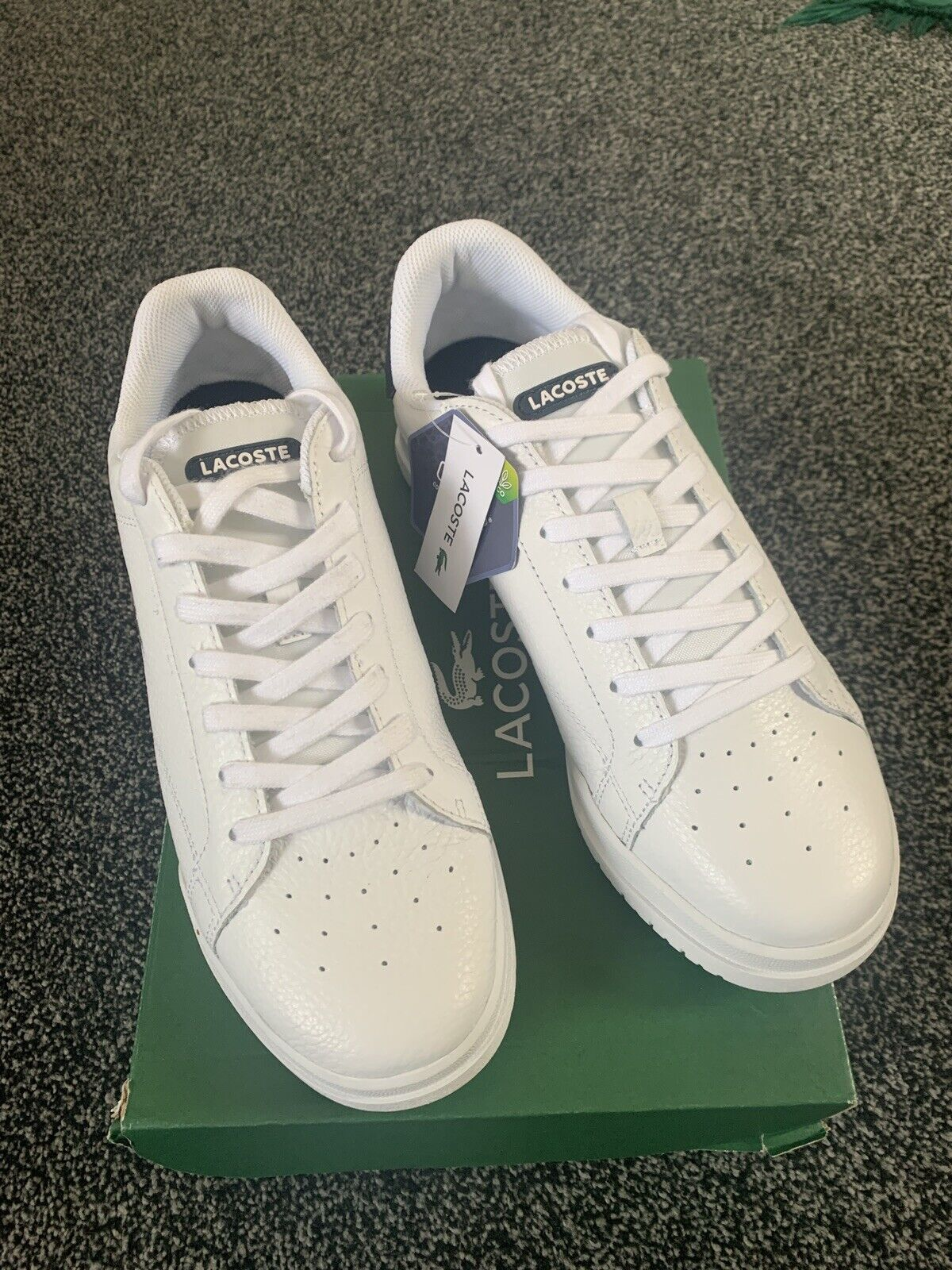 Lacoste Men's Twin Serve 721 3 Leather Trainers, White (SIZE 8 uk)