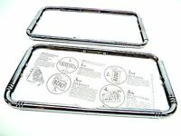 2 - Chrysler Classic Car 1920's 1930's Chrome License Plate Frame - Adjustable