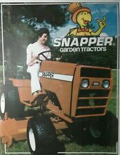 Snapper 1600 1655 1855 Garden Tractor  Sales Color Brochures Manual (2 books)36p