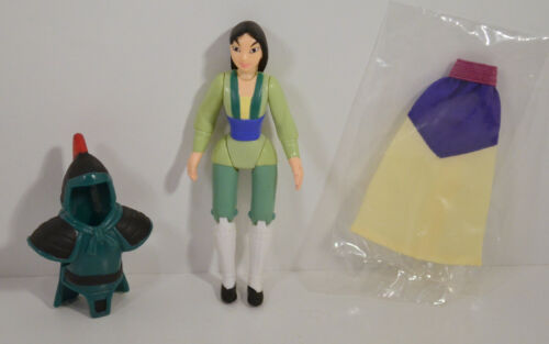 "1998 Mulan Hero Princess 4.25/"" McDonald/'s #1 Happy Meal Action Figure Disney"