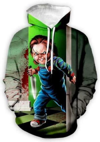 Halloween Terror Chucky 3D Print Women//Mens Hoodies Sweatshirt+Pants Sport Suit