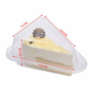 Sturdy Triangular Cake Pastry Carrier Box Pot One Piece Secure And