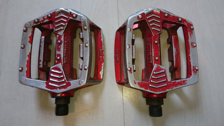 Old school school school SHIMANO PD-MX15 pedals bmx. GT rossoLINE schwinn 6f2079