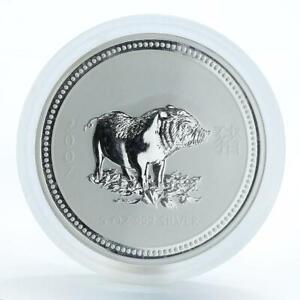 Australia-8-Dollars-Year-of-the-Pig-Lunar-Series-I-5-Oz-Silver-Coin-2007