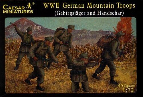 II-Guerra-Mundial-Aleman-Mountain-TROPAS-CAESAR-MINIATURES-h067-1-72-Escala