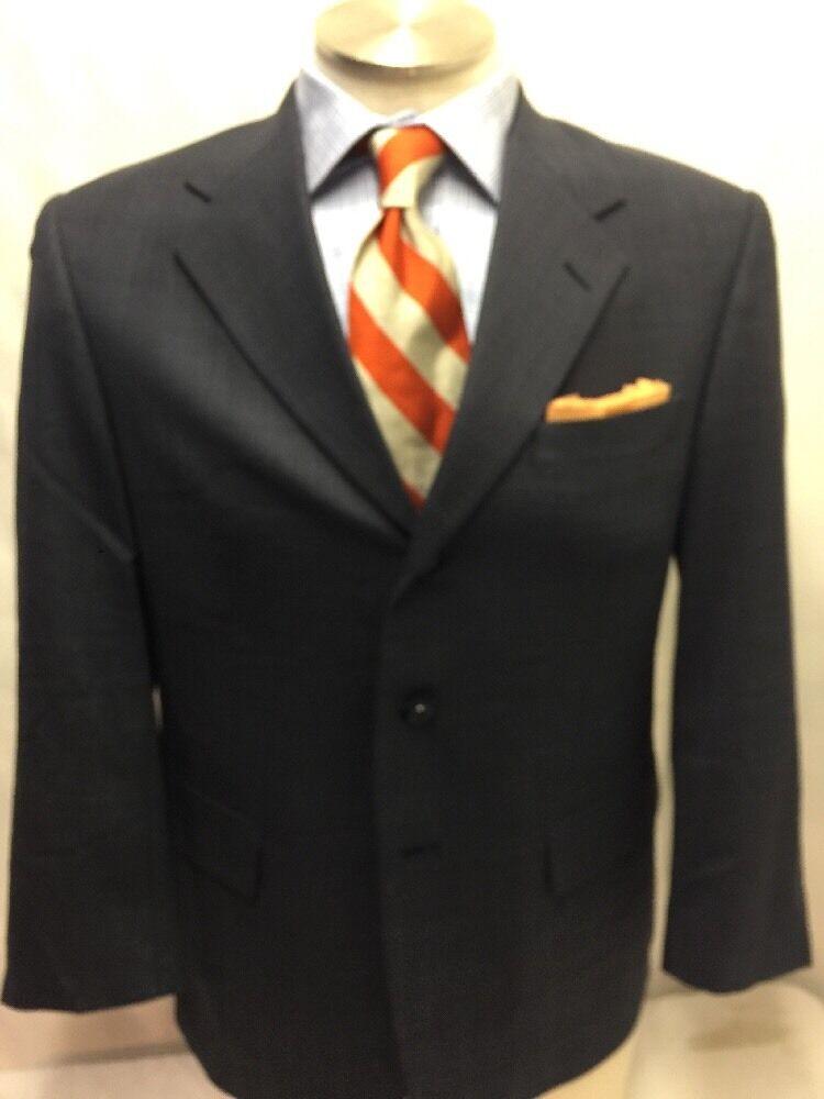 TALLIA  Herren Blau 3 Button Suit Sz 40S