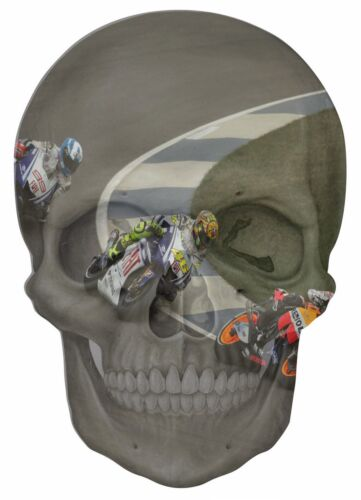 Gothic Skull Double Exposure Moto Gp View Wall Sticker Mural Art Decal 297