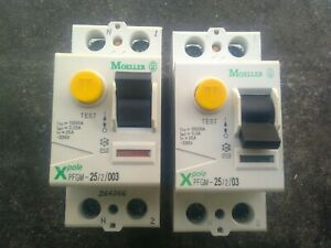interrupteur différentiel  30ma 25 amp 2 poles mono  MOELLER