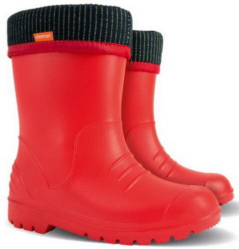 Dino Kids Boys Girls Wellies Wellington Boots Rainy Snow Ultra Light  Size 5-13