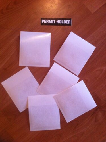 2 X Self Adhesive Backed Windscreen Holder For Parking Permit 110 X 90 Taxi