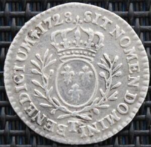RARE-FRANCE-LOUIS-XV-1-20-ECU-AU-BRANCHES-D-039-OLIVIER-1728-T