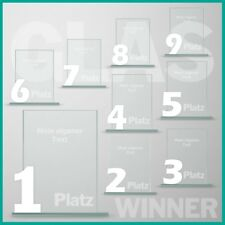 9er Glaspokal Serie Pokale mit Lasergravur günstig kaufen unser Kauftip!