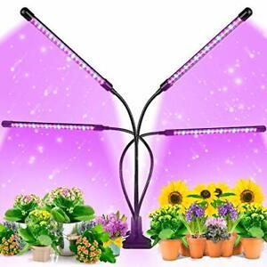 EZORKAS Grow Light 80W Tri Head Timing 80 LED 9 Dimmable Levels Plant Grow Li...