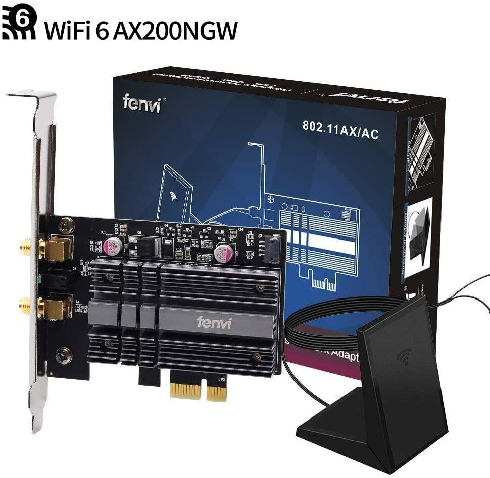 3000Mbps WiFi 6 PCI-E WiFi Card Dual Band Intel AX200 wifi card PC Adapter BT5.1