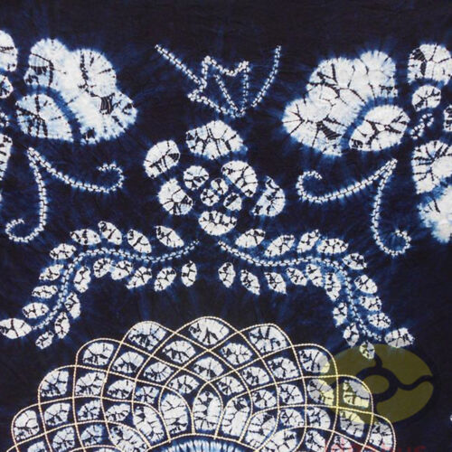 """Handmade Indigo Tie Dye Rural Style Tablecloth Table Cover Tapestry 63/""""L x 43/""""W"""