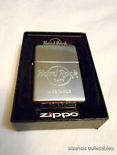 Hard Rock Zippo Lighter Chrome Lake Tahoe CA - BNIB!