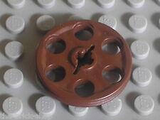 LEGO TECHNIC Castle OldBrown wedge belt wheel 4185 / set 3451 6086 6085 7419 ...