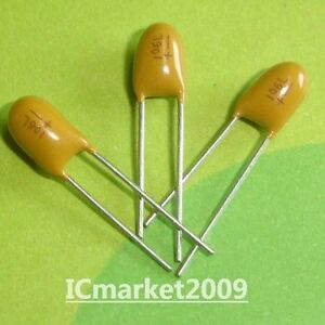 10PCS Tantalum Capacitor 2.54 DIP 16V 10UF 106 NEW