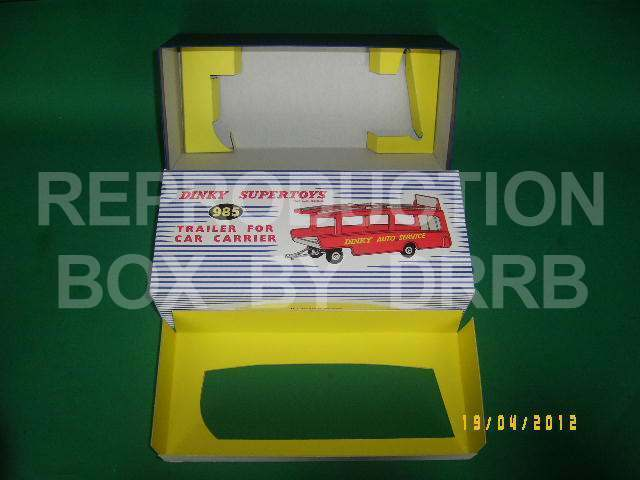Dinky Trailer for Car Carrier - Reproduction Box by DRRB