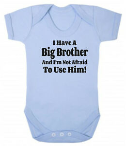 I-Have-A-Big-Brother-Blue-Pink-Cotton-Bodysuit-Baby-Present-Little-Sister-Bro