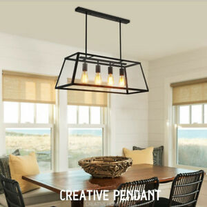 Vintage Pendant Lights Dining Room Chandeliers Kitchen Ceiling Lamp