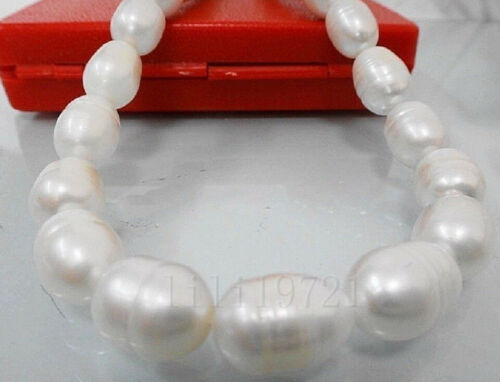 """10-12mm white Freshwater PEARL loose beads 15/"""""""
