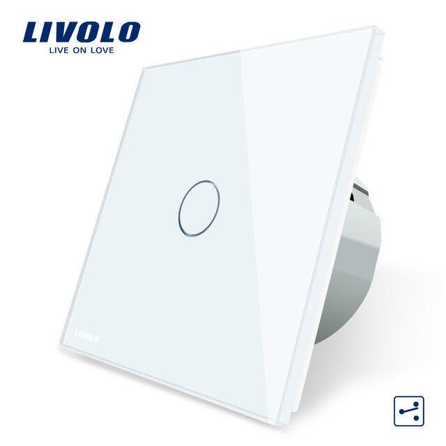 Touch Wechselschalter Lichtschalter Weiß Glas Livolo VL-C701S-11 Touchscreen | Jeder beschriebene Artikel ist verfügbar