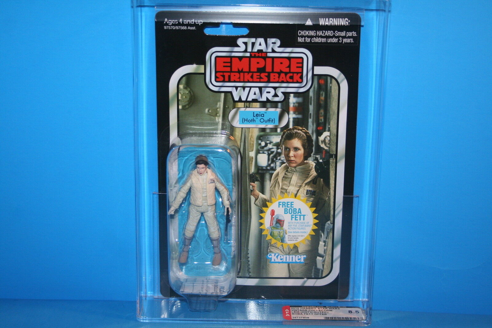 Estrella Wars AFA Classification 2010 TVC Monetary Coched digital Leia Hoss baby 8.5