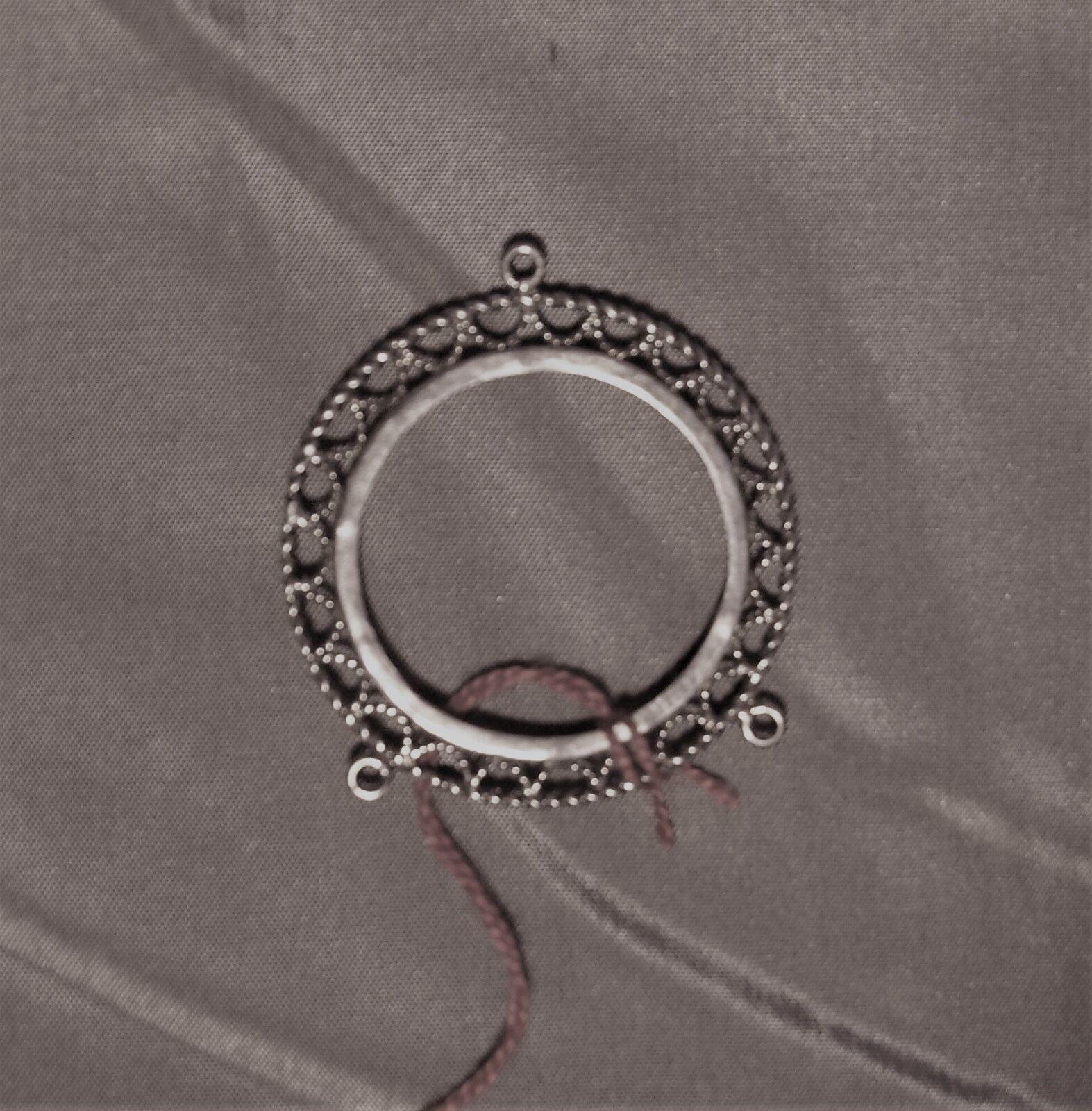 Münzfassung 925 silver mit Filigranrahmen für Münze  Ø 40 mm -N