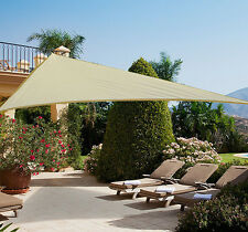 Outsunny -Tendone parasole triangolare -Tenda a vela -  Anti UV - Crema - 5x5x5m