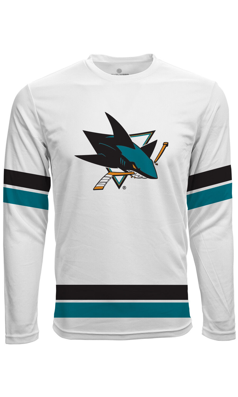 NHL Trikot Trikot Trikot Shirt San Jose Sharks Langarm weiß Fantrikot Scrimmage Jersey ead2d8