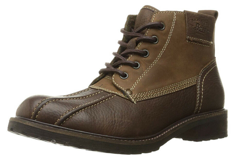 New G.H. Bass and Co. Brigg Uomo Plain Toe Pelle Uomo Brigg Stivali Size 13 a8bc14