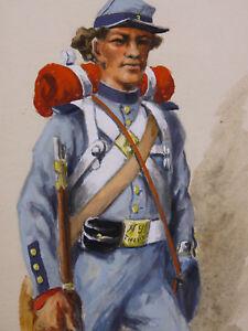 Pierre Rousseau (xix Xx) Us Army 1861 New York State « The Civil War » Yankee Pour Aider à DigéRer Les Aliments Gras