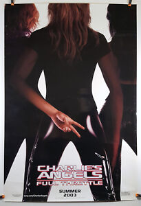 Charlie S Angels Full Throttle 2003 Original Movie Poster 27x40 Rolled Glossy Ebay
