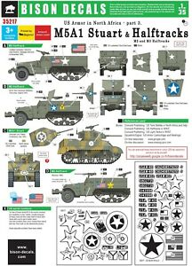 Bison-Decals-1-35-US-Armor-in-North-Africa-3-Halftrack-and-Stuart-35217